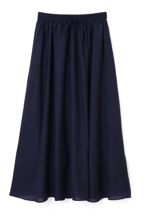 〈ウォッシャブル〉ボイルマキシスカート