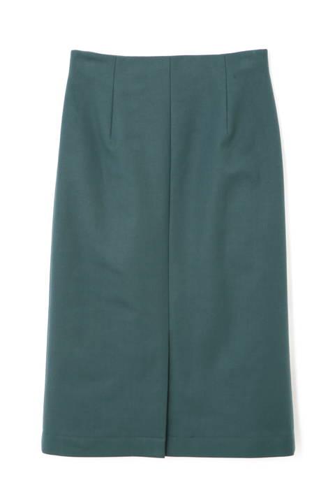 〈ウォッシャブル〉フロントスリットタイトスカート