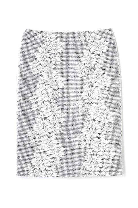 ギンガムレースボンディングスカート