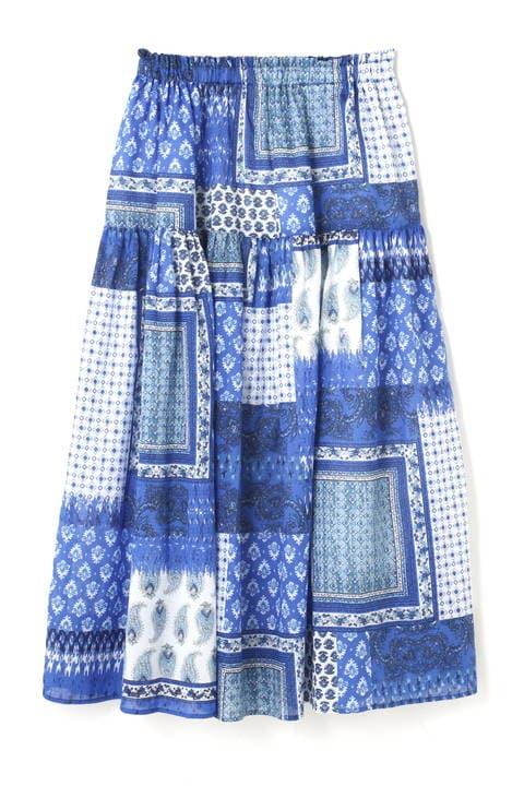 エスニックプリントスカート