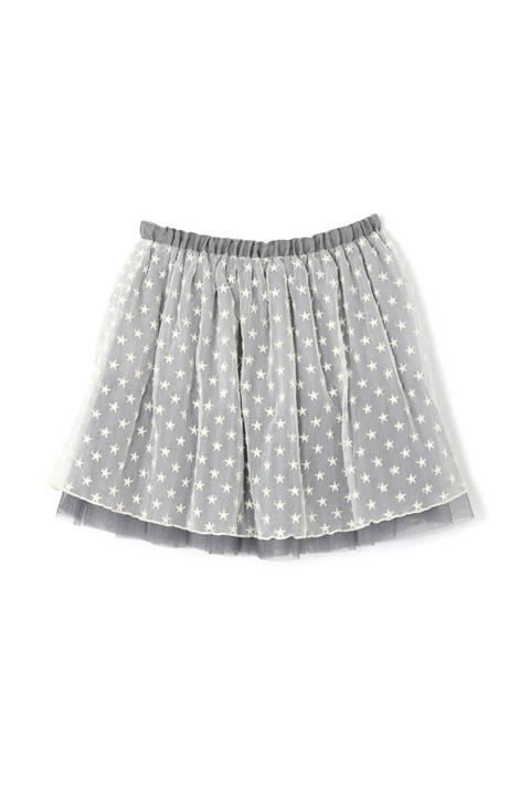 《KIDS》モチーフ刺繍チュールスカート