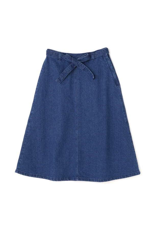 《BLUE》デニムAラインスカート