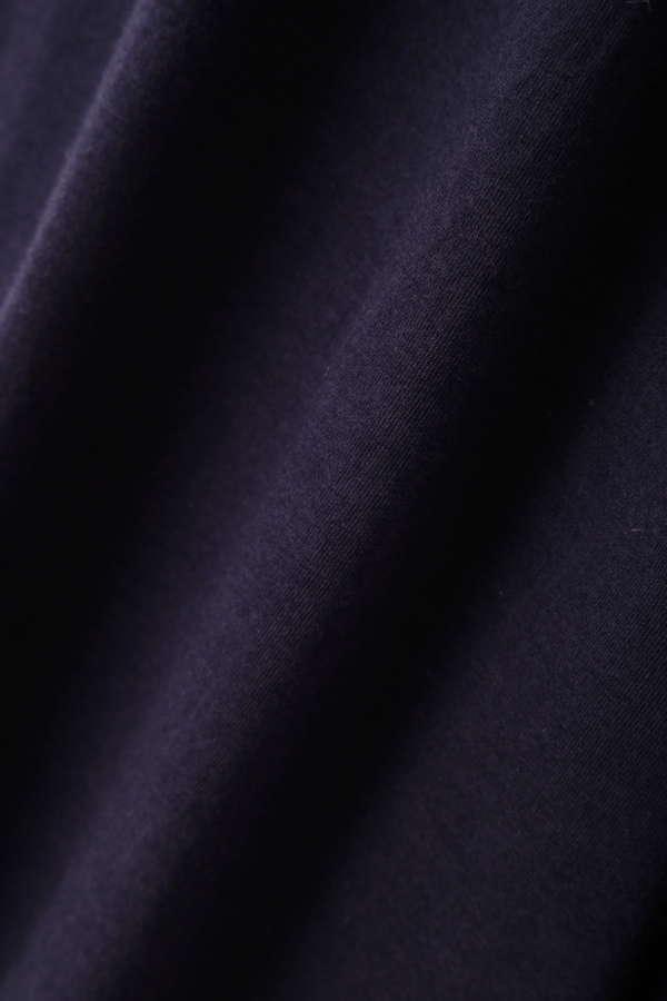 《BLUE》コットンモダール天竺ワイドパンツ