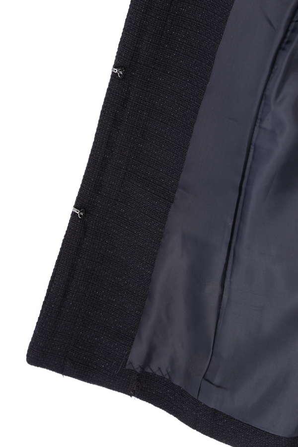 《BLUE》ラメドビーツイード セットアップ ノーカラージャケット