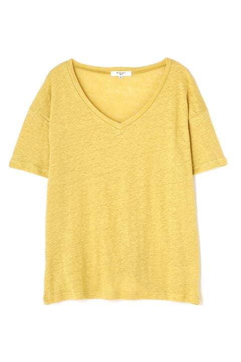 〈ウォッシャブル〉リネンTシャツ