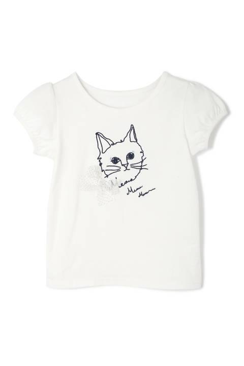 CATエンブロイダリーTシャツ