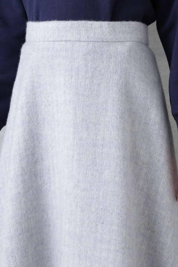 ウール混シャギーチェックスカート