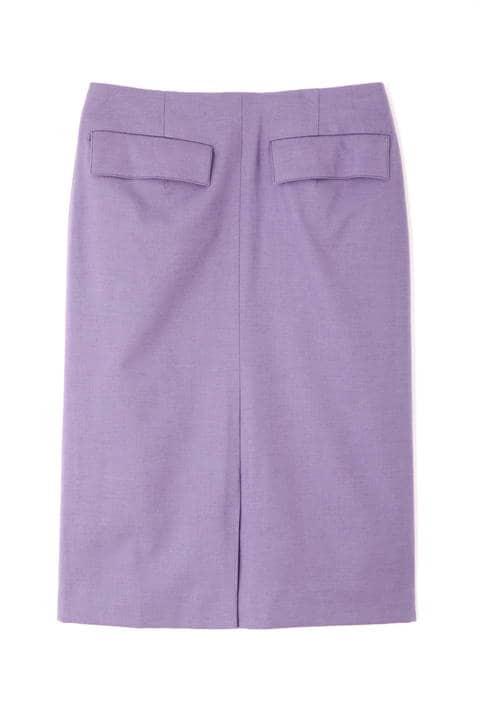 ウールフラノストレッチタイトスカート