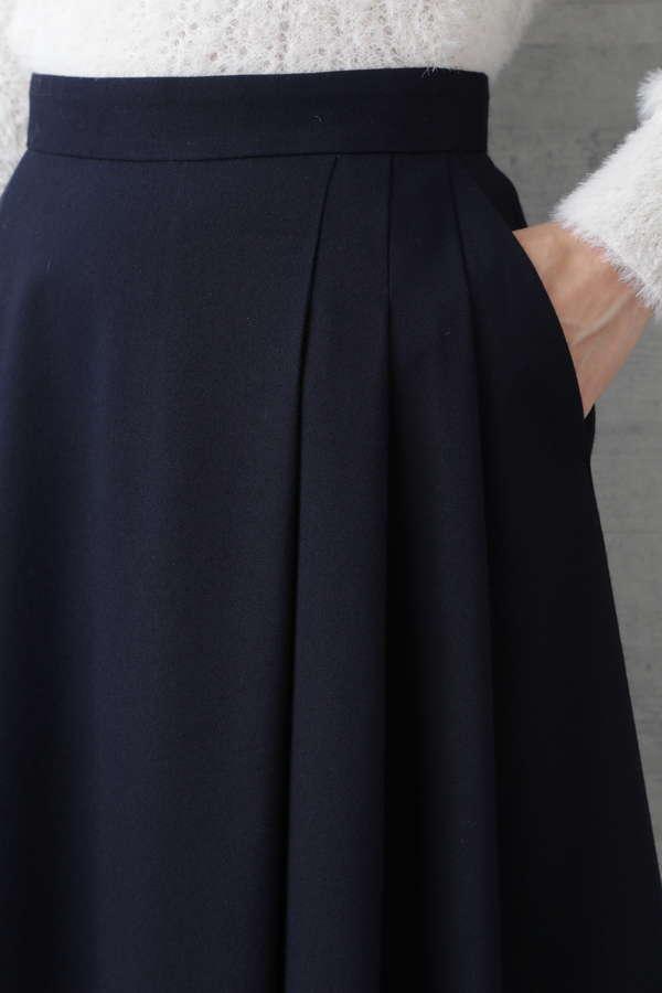 〈ウォッシャブル〉サイドタックフレアスカート