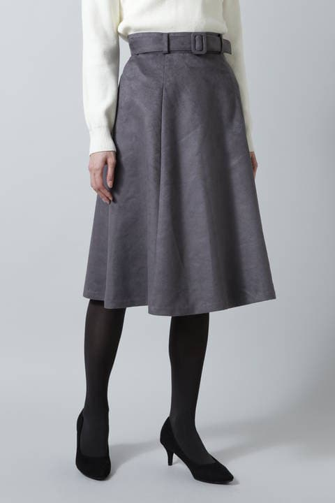 ベルテッドフェイクスエードスカート