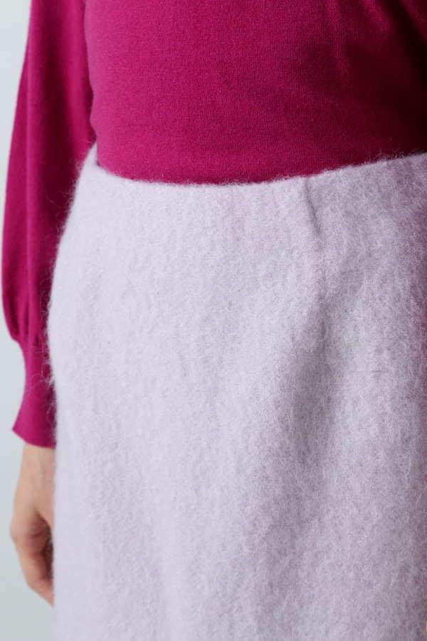 モヘアシャギースカート
