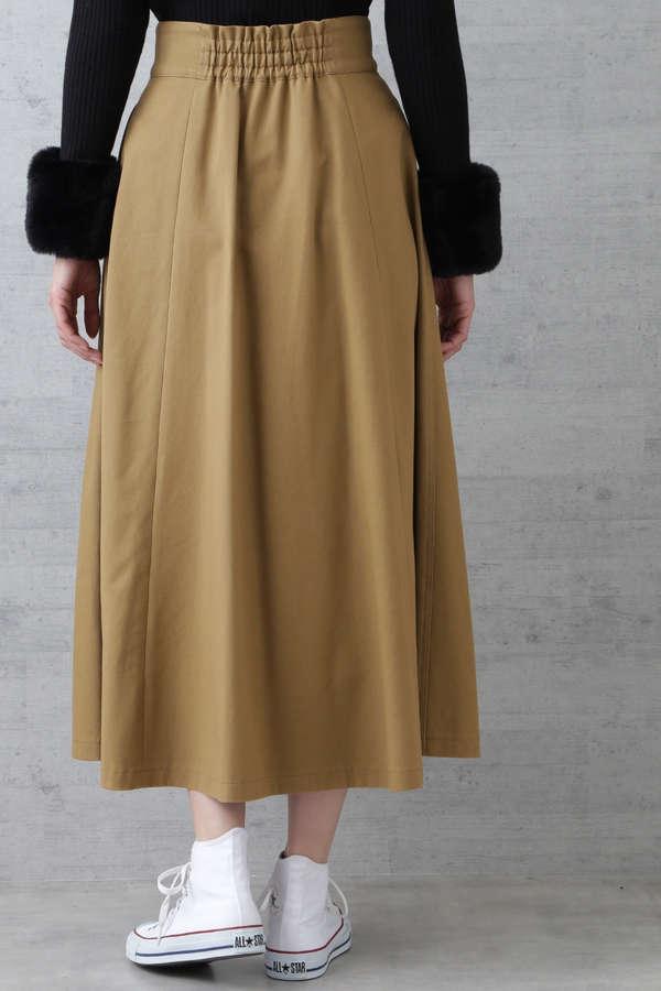 コットンツイルピーチマキシスカート