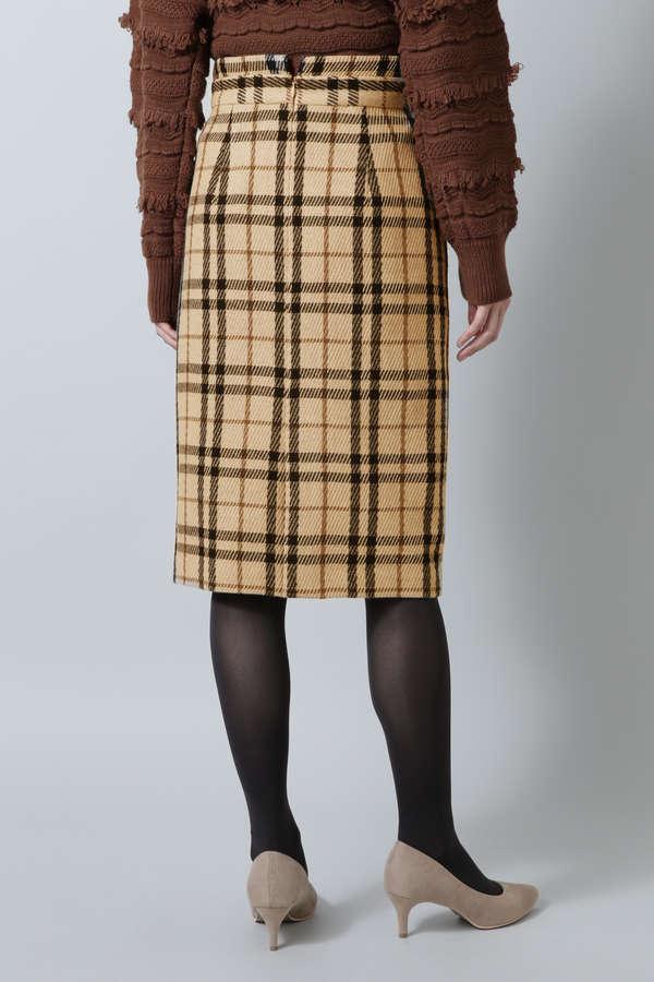ウールカルゼストレートスカート