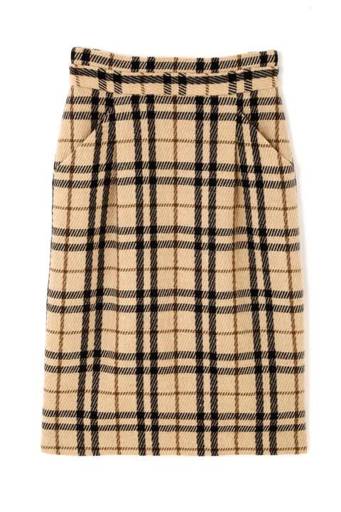【先行予約_11月上旬-中旬入荷予定】ウールカルゼストレートスカート