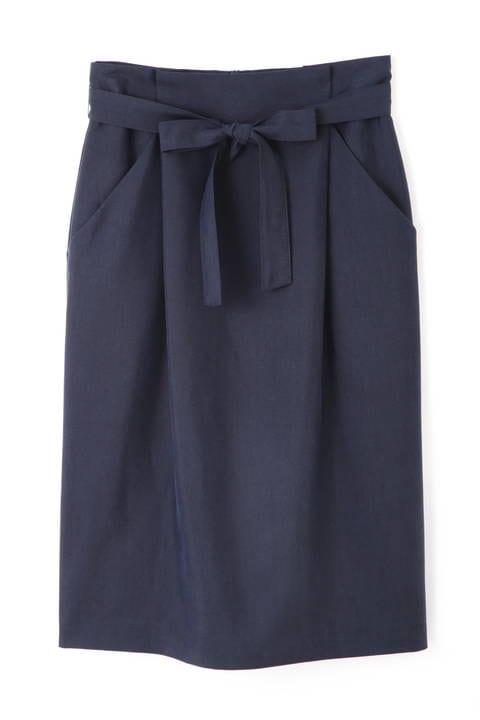 【先行予約_6月上旬-中旬入荷予定】ウエストリボンタイトスカート