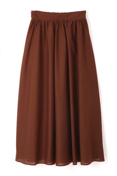 〈ウォッシャブル〉カラーマキシスカート