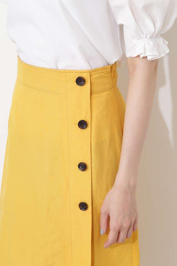 【先行予約_7月上旬-中旬入荷予定】サイドボタンラップ風スカート