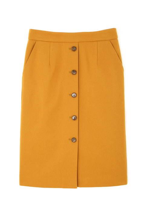 〈ウォッシャブル〉フロントボタンストレートスカート