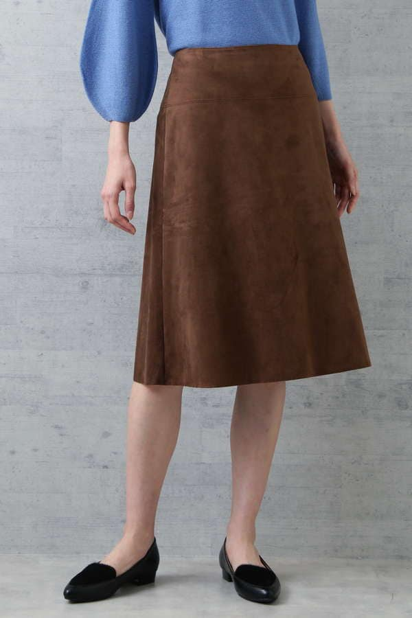 フェイクスエードスカート