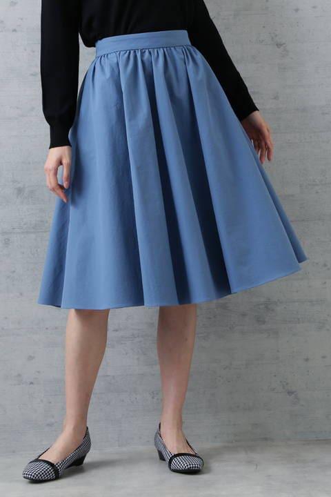 ツイルギャザーフレアスカート