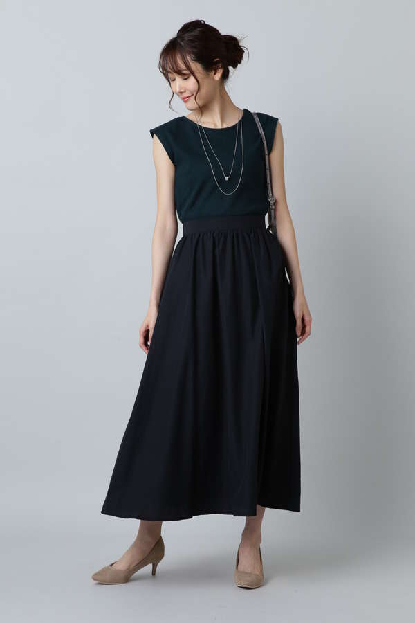 〈ウォッシャブル〉ボイルワッシャーマキシスカート