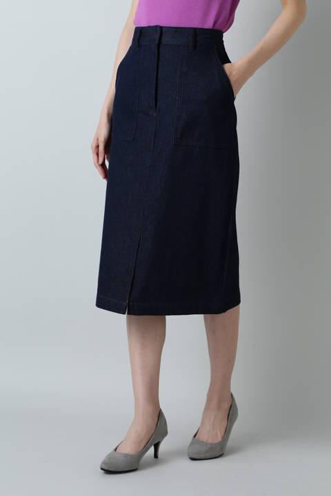 デニムストレートスカート