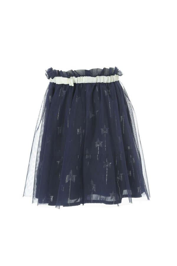 《KIDS》スターカットジャガードスカート