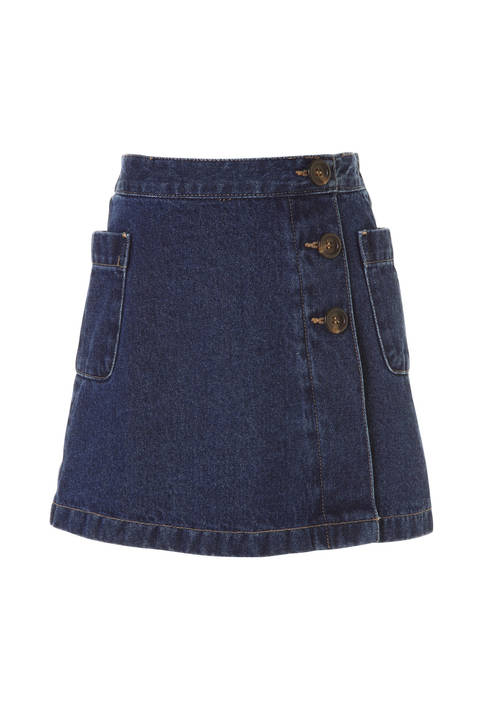 《KIDS》デニムラップスカート
