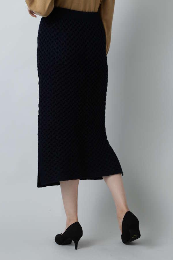 ケーブルニットスカート
