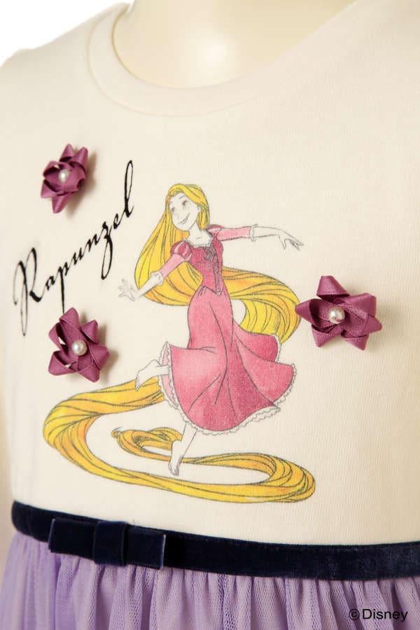 《KIDS》Disneyプリンセスミニ裏毛ワンピース