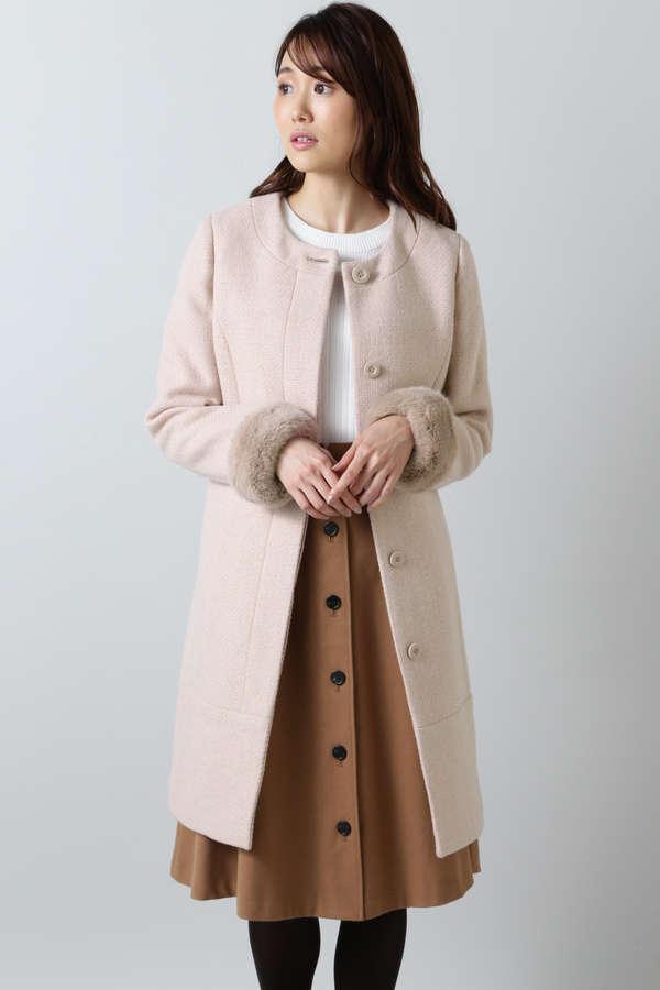 ツイードシャークコート