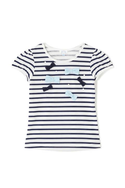 《KIDS》ランダムリボンボーダーTシャツ