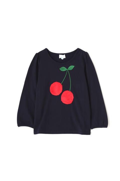 《KIDS》チェリーアップリケロンTシャツ
