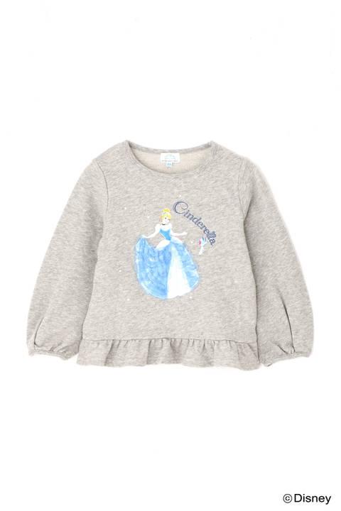 《KIDS》Disneyプリンセスミニ裏毛プルオーバー