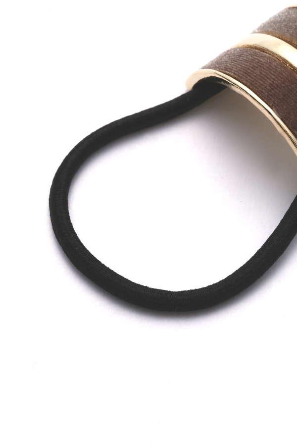 ベルベットハーフラインヘアゴム