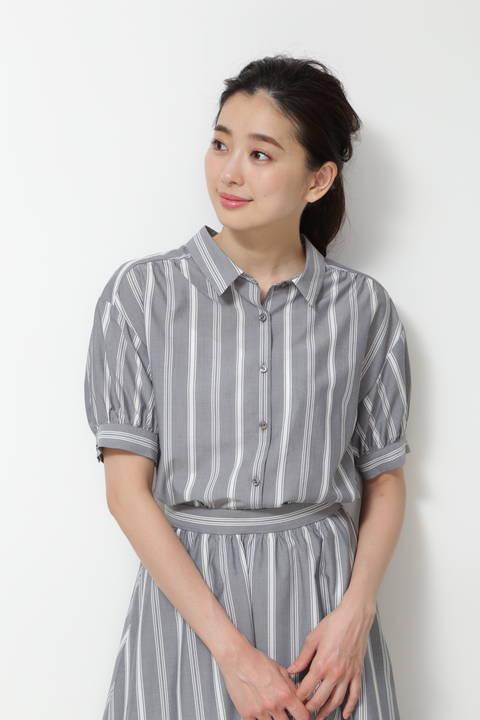 [洗える]ランダムストライプシャツ