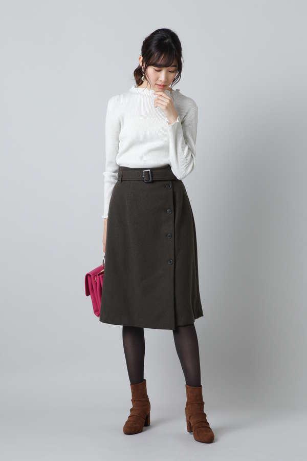 アシメトレンチスカート