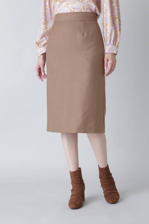 〈ウォッシャブル〉ボタニサージタイトスカート