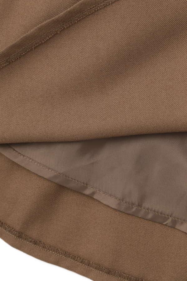 チェックプリーツトレンチスカート