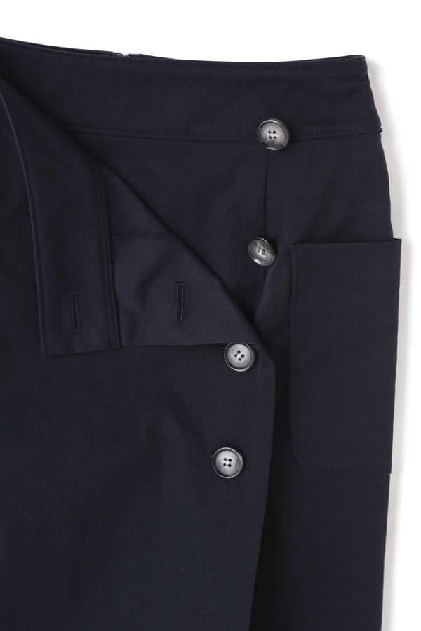 サイドボタンナロースカート