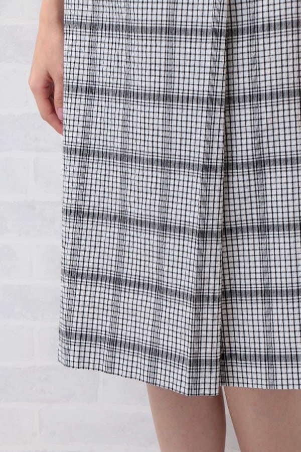 ドビーチェックラップスカート