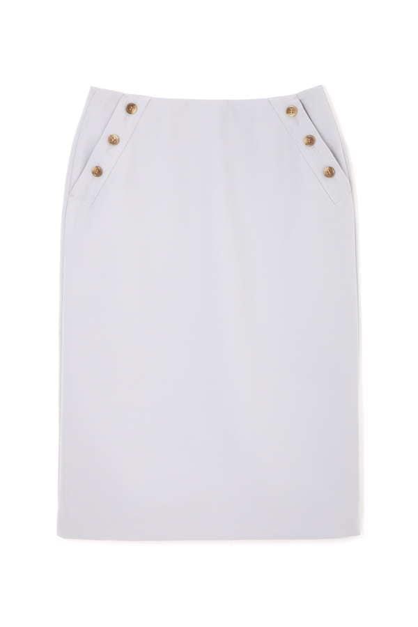 〈ウォッシャブル〉マリンボタンタイトスカート
