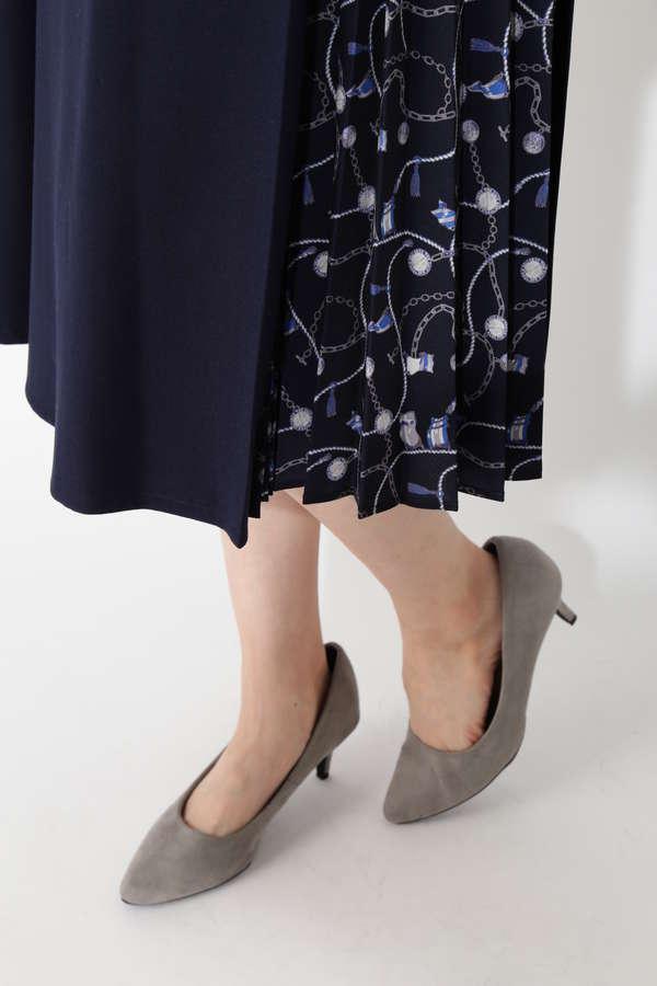 スカーフプリント切り替えスカート