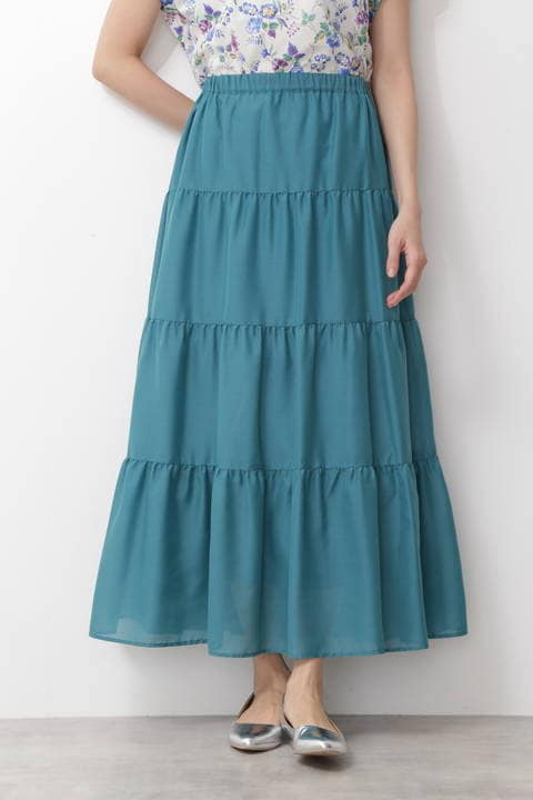ティアードマキシスカート