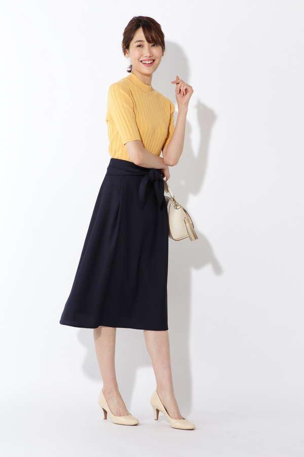 [洗える]リネンライクセットアップ スカート