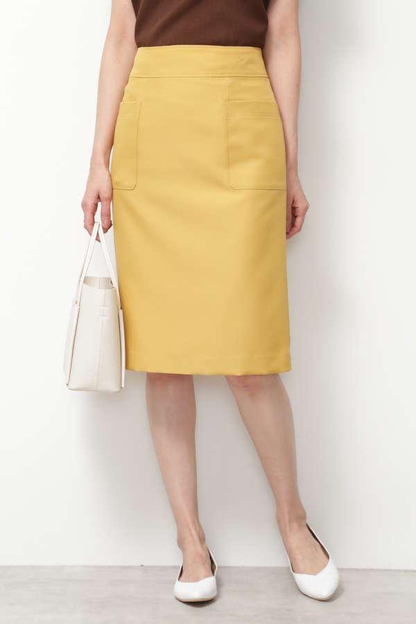 [洗える]ビッグポケットストレートスカート