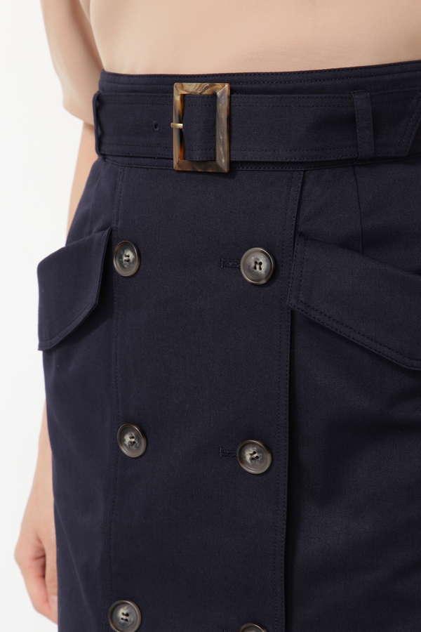【NBB×Oggiコラボ】[洗える]トレンチタイトスカート