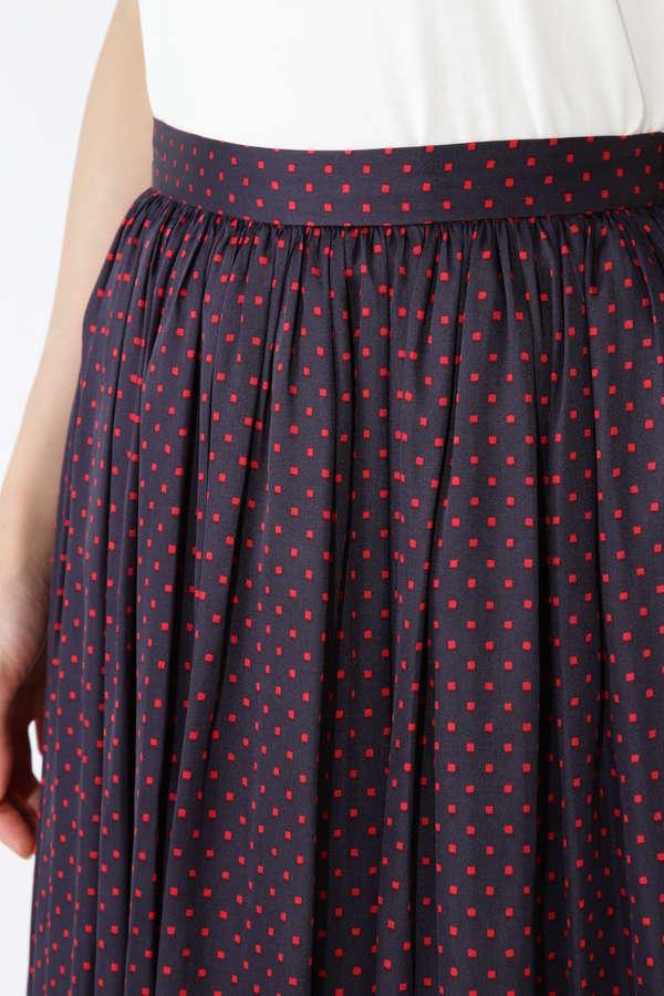 [洗える]スクエアドットプリントスカート