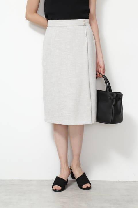 [洗える]リネンライクドビーセットアップ スカート