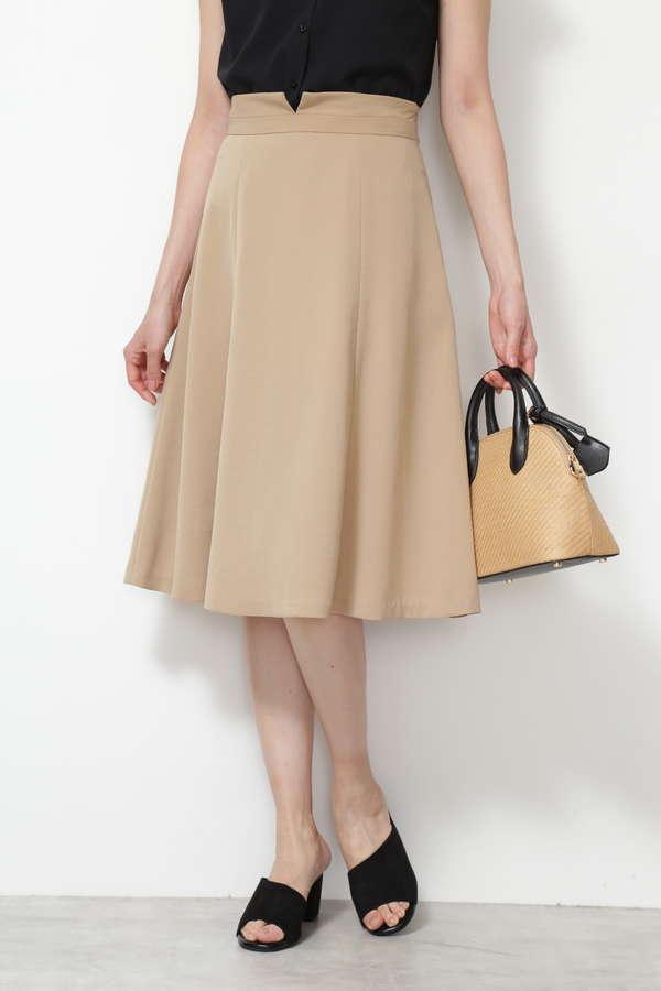 [洗える]ハイウエストフレアスカート